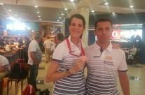 Ruth Beitia y Oscar Jiménez