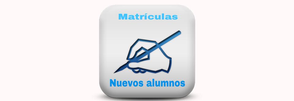 Matrículas para NUEVOS ALUMNOS temporada 2018/2019