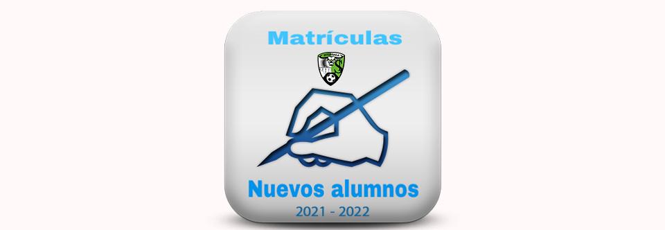 Matriculas de NUEVOS ALUMNOS para la temporada 2021/2022